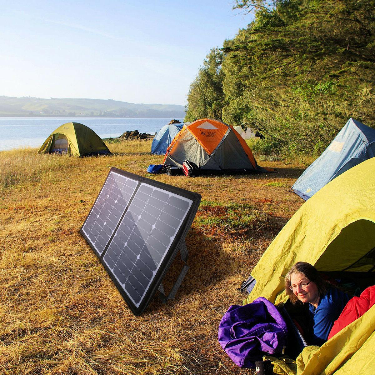 50W Solar Waterproof Battery For Travel Hiking Camping US