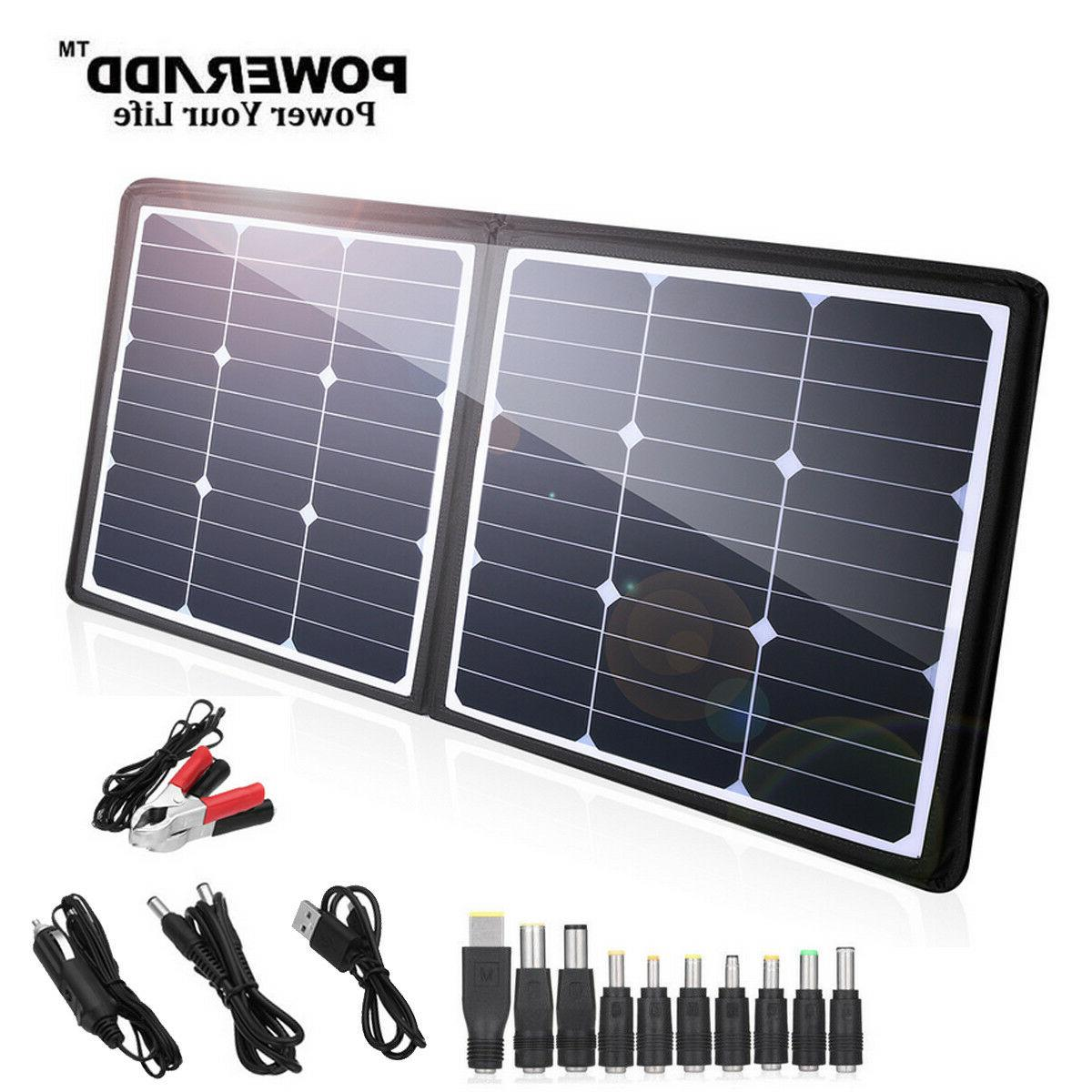 Poweradd 50W 12V 18V Foldable Solar Panel Charger for Phone