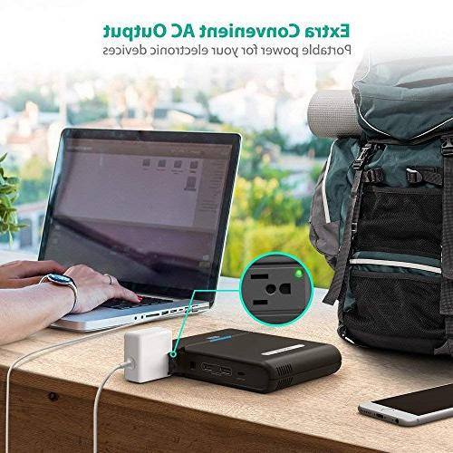 RAVPower Outlet Portable Charger 27000mAh Built Plug Power Travel Charger