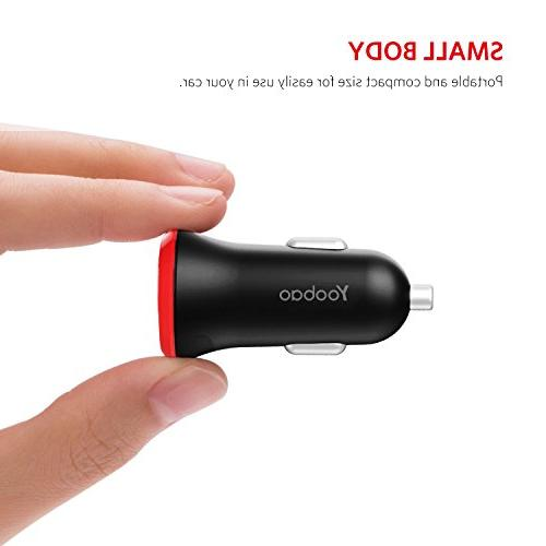 Yoobao USB C Car Charger Car Charger 5V / Oneplus 5T/5/3, Samsung Galaxy,