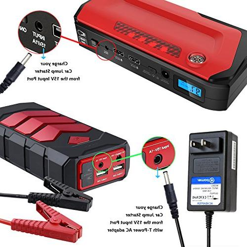 T Adapter Charger Compatible with Car Jump 500A 600A Peak Car Portable fits: BEATIT iClever ANKER GOOLOO Geek
