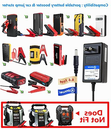 T POWER 15V Adapter Charger Compatible Car Jump 450A 500A 800A Peak Car Jump Portable Auto Booster fits: iClever DBPOWER ANKER Geek
