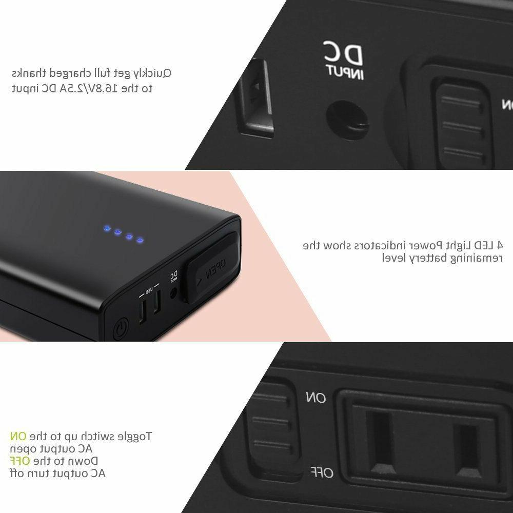 24000mAh Outlet Portable Power Charger 80W 88Wh 110V
