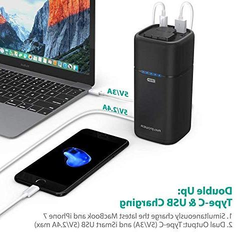 Portable Charger AC External Pack Charger MacBook, Surface Pro, 13, iPhone S9, Note Updated