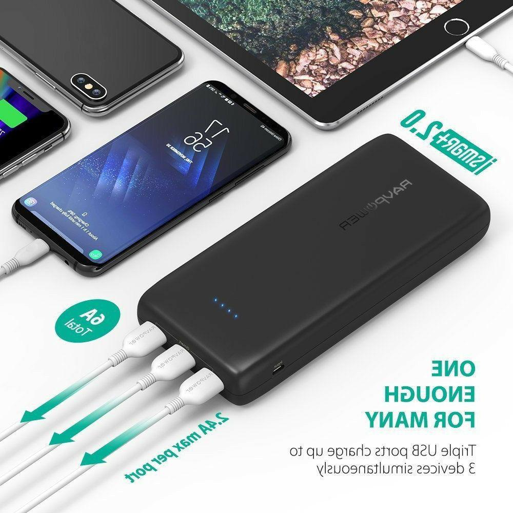 Battery Pack 32000 RAVPower 32000mAh Power Banks 6A Output,