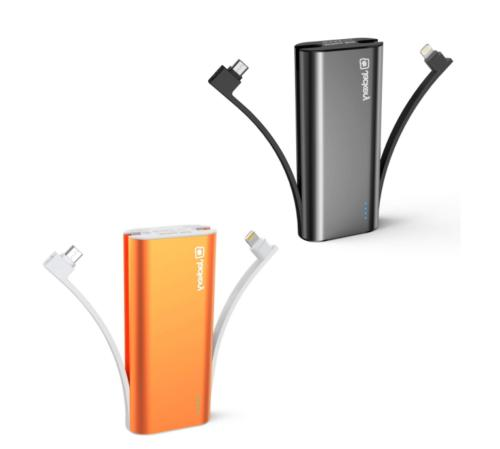 bolt 6000mah portable charger black and orange