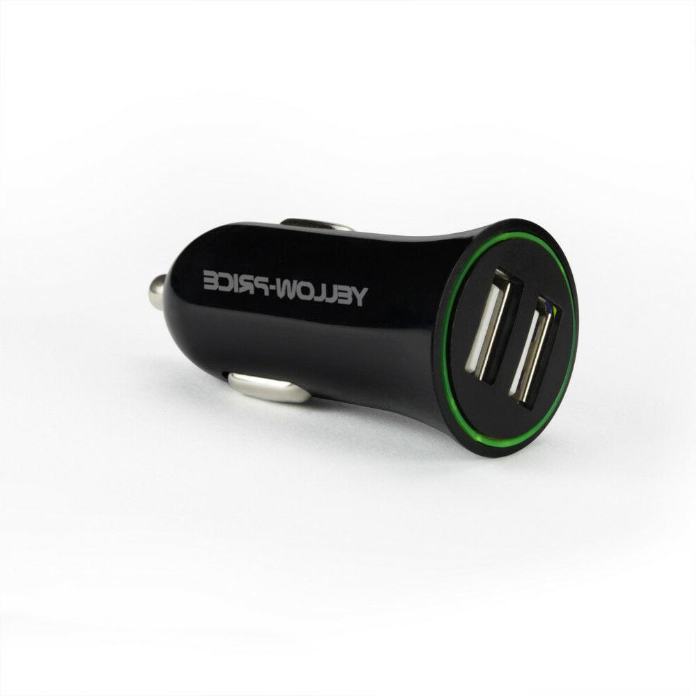 Compact Portable 30W/5.4A 2.4A Fast Car Charger Dual