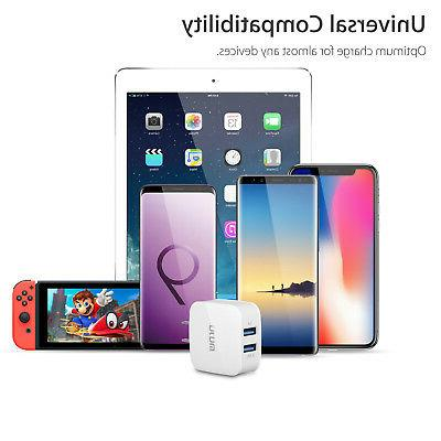Dual USB Fast Portable for iPhone 8 Plus X Galaxy