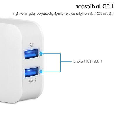 Dual 2-Port USB Fast Portable Charger Adapter for iPhone 8 X