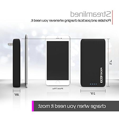 Dual USB Portable - 12,000mAh Battery Pack and with Built-in AC and Micro USB Cable iPhone, Android and - by Tzumi