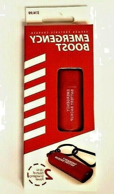 EMERGENCY BOOST 400 PORTABLE CHARGER BACKUP