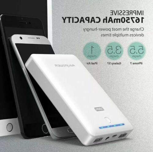 External Battery RAVPower 16750mAh Bank 4.5A US