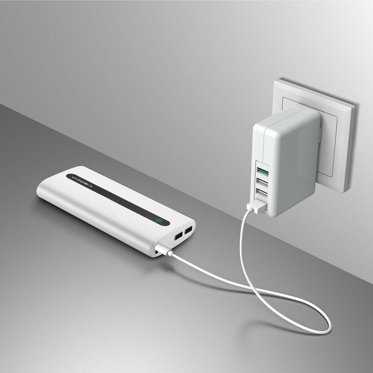 Aibocn 20000mAh Power Bank Dual USB Phone with Torch