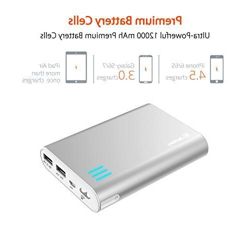 Jackery 10400mAh Premium External Battery Backup with Output for 5C, 4S, 4, iPad 2, iPod Samsung Galaxy S4, S2, Note 2, One, Droid DNA, Motorola Moto Droid, Glass, 7, 10, Optimus, PS Nook HD+, and more; Premium Samsung and