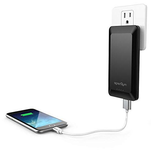myCharge Home&Go Charger 8000mAh Bank iPhone Charger, Built-In Cable, USB-A Port, Foldable Plug