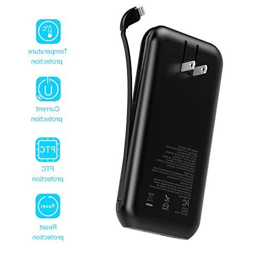 Heloideo 15000mAh with Plug, Charging Portable Charger Cable