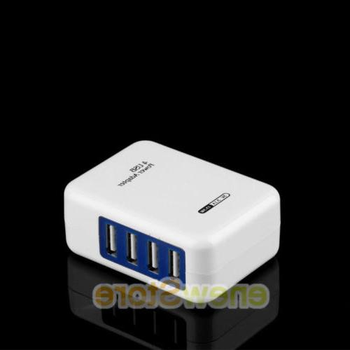 LOT 2.1A 4 Ports USB Wall Charger US AC Power