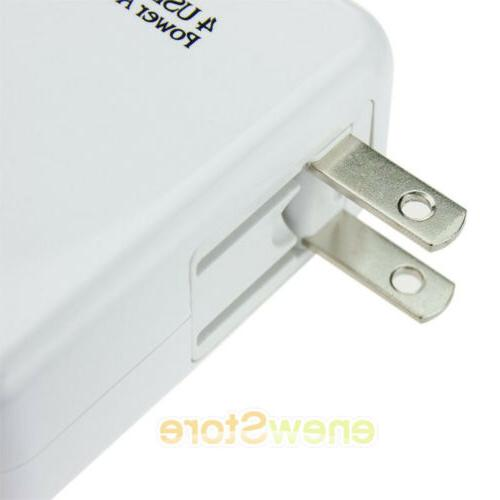 LOT 2.1A 4 USB Portable Wall Charger US AC