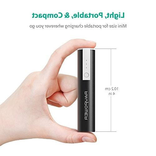 Portable RAVPower Mini 3350mAh External Pack Bank External Phone with Technology Smartphones and