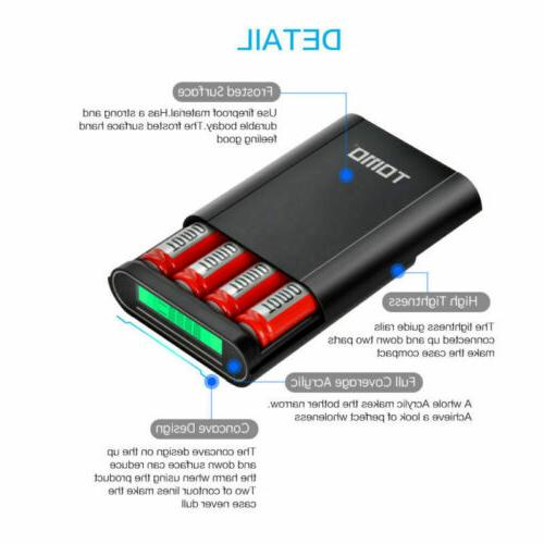 TOMO M4 Power Bank 4x18650 Battery Case Dual Cover LCD Charger