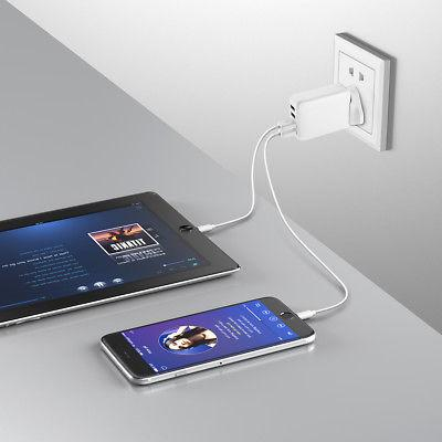 24W 4.8A 4 Travel Travel Charger with Plugs