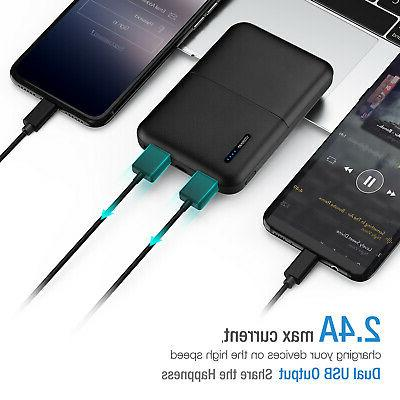 10000mAh Portable Power Dual Battery Charger phone US