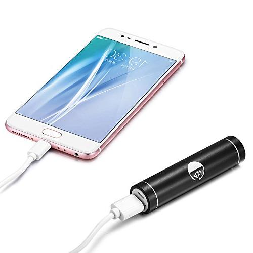 AGS™ Mini 2600mAh Lipstick-Sized Premium Power External Charger iPhone, Samsung Android and
