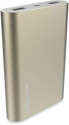 mycharge razorultra 12000mah portable charger in gold