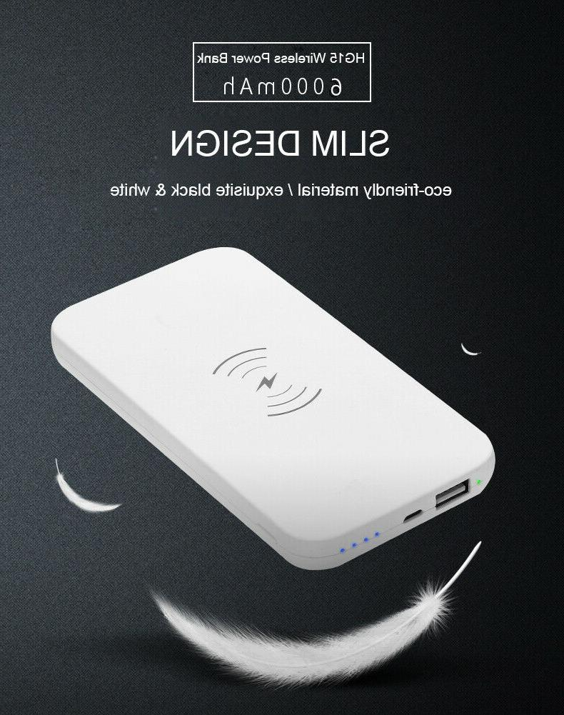 new 10000mah qi wireless power bank b