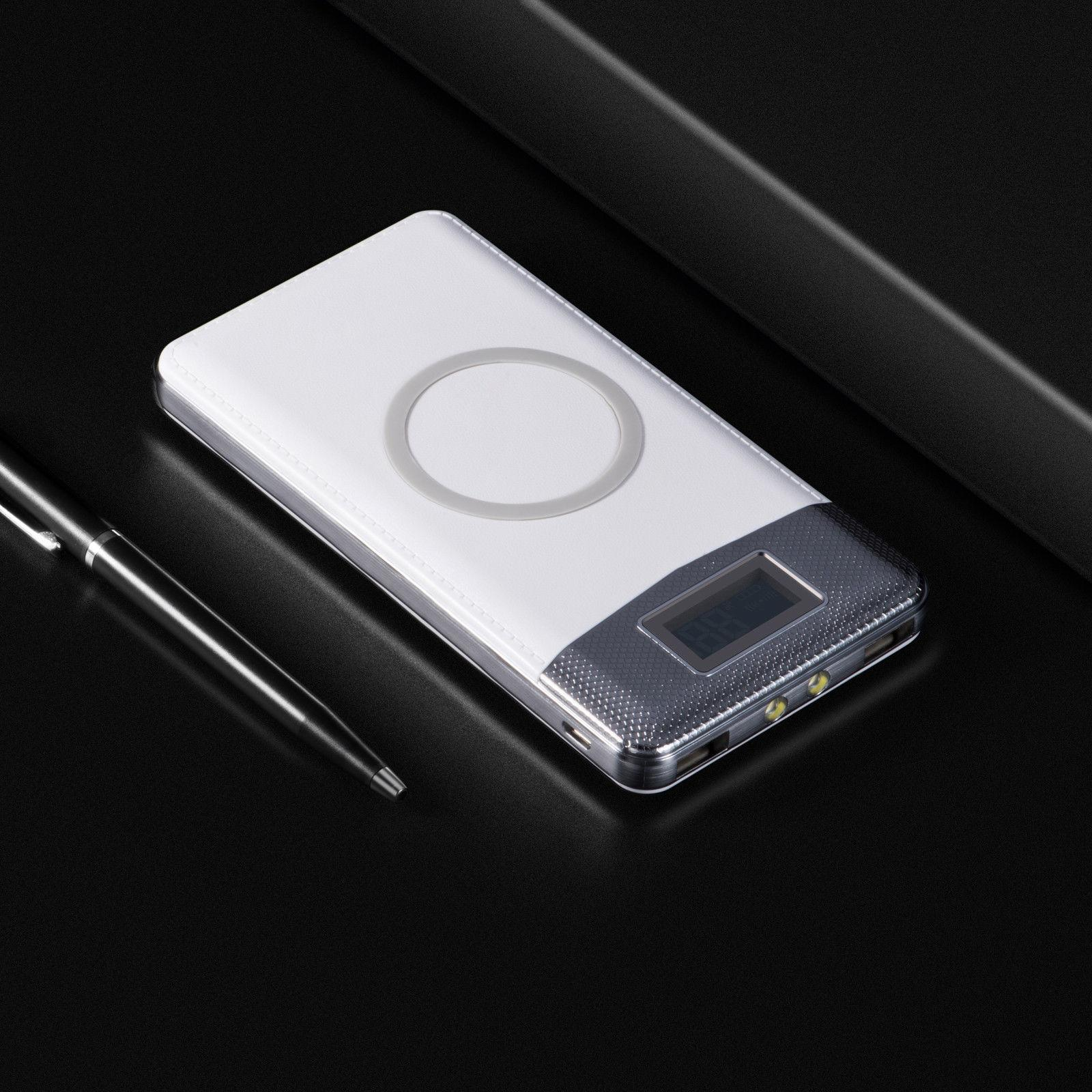 NEW 500000mAh Bank Qi USB LED Charger
