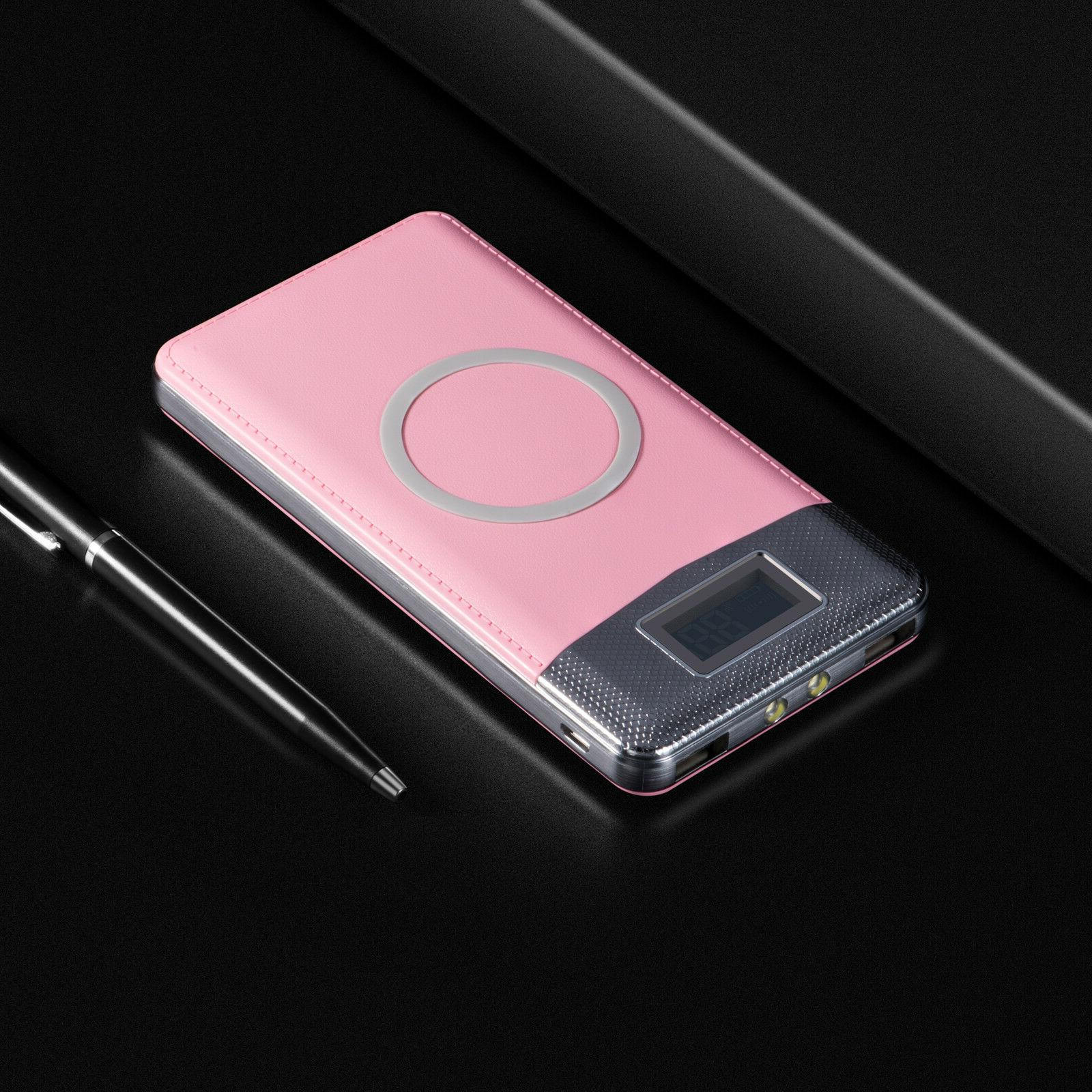 NEW 500000mAh Power Qi USB Portable Charger