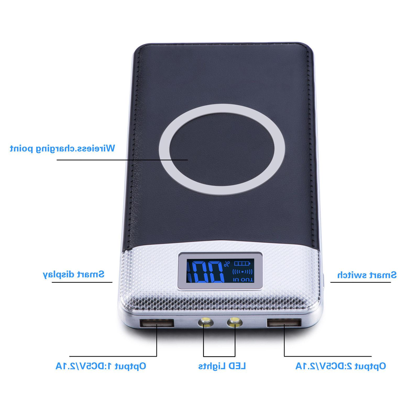 NEW Power Qi USB LED Battery Charger