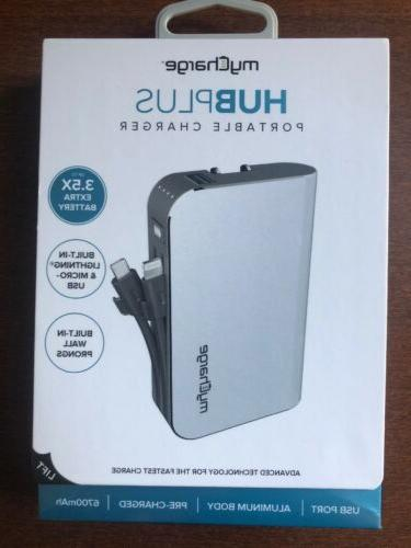 new hubplus charger 6700mah battery built in