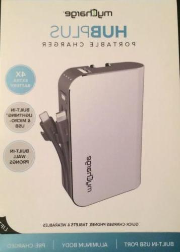 new my charge hubplus portable charger 4x