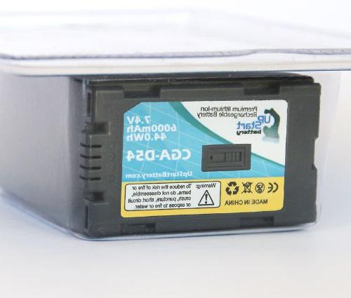 2x Pack CGR-D54 Battery and Replacement Compatible with Battery and Charger