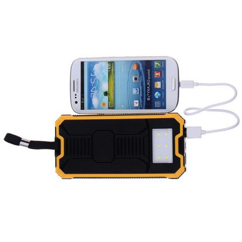 For 50000mAh USB External Solar Power Dual