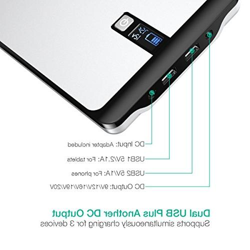POWERADD Pilot 23000mAh Power Bank DC Output with LCD Display Laptops,