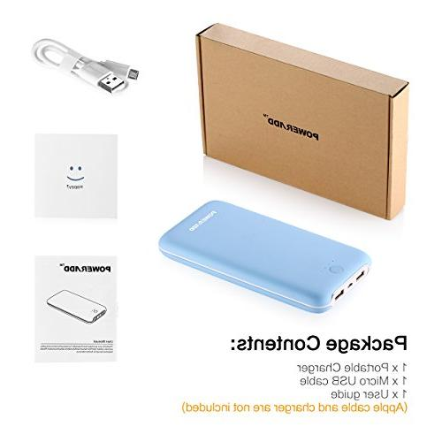 Poweradd 20000mAh Power Comfortable Touch Pack with Smart Tech for iPhone, Samsung More