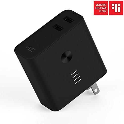 ZMI Charger 6700mAh with Dual USB Wall Plug and 3.0, iPhone, iPad, Android, Samsung Galaxy