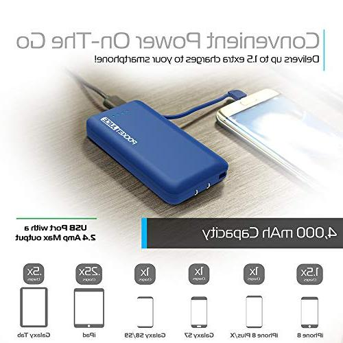 Tzumi PocketJuice - Device Battery - 4,000 Single USB Works with and Android Includes - Blue