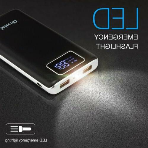 100000MAH POWER BANK LCD PORTABLE USB CHARGER FOR