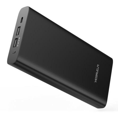 Portable Battery Charger Power 3 USB Phone Laptop