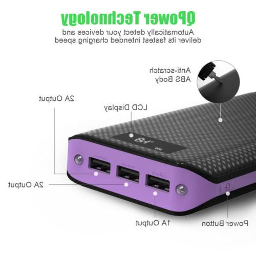 Portable 300000mAh Power Backup USB Charger Cell