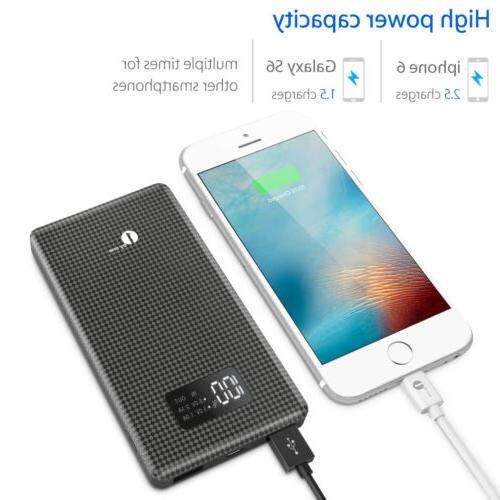 Portable /10000mAh LED Power Bank Dual USB Battery Charger For Phone