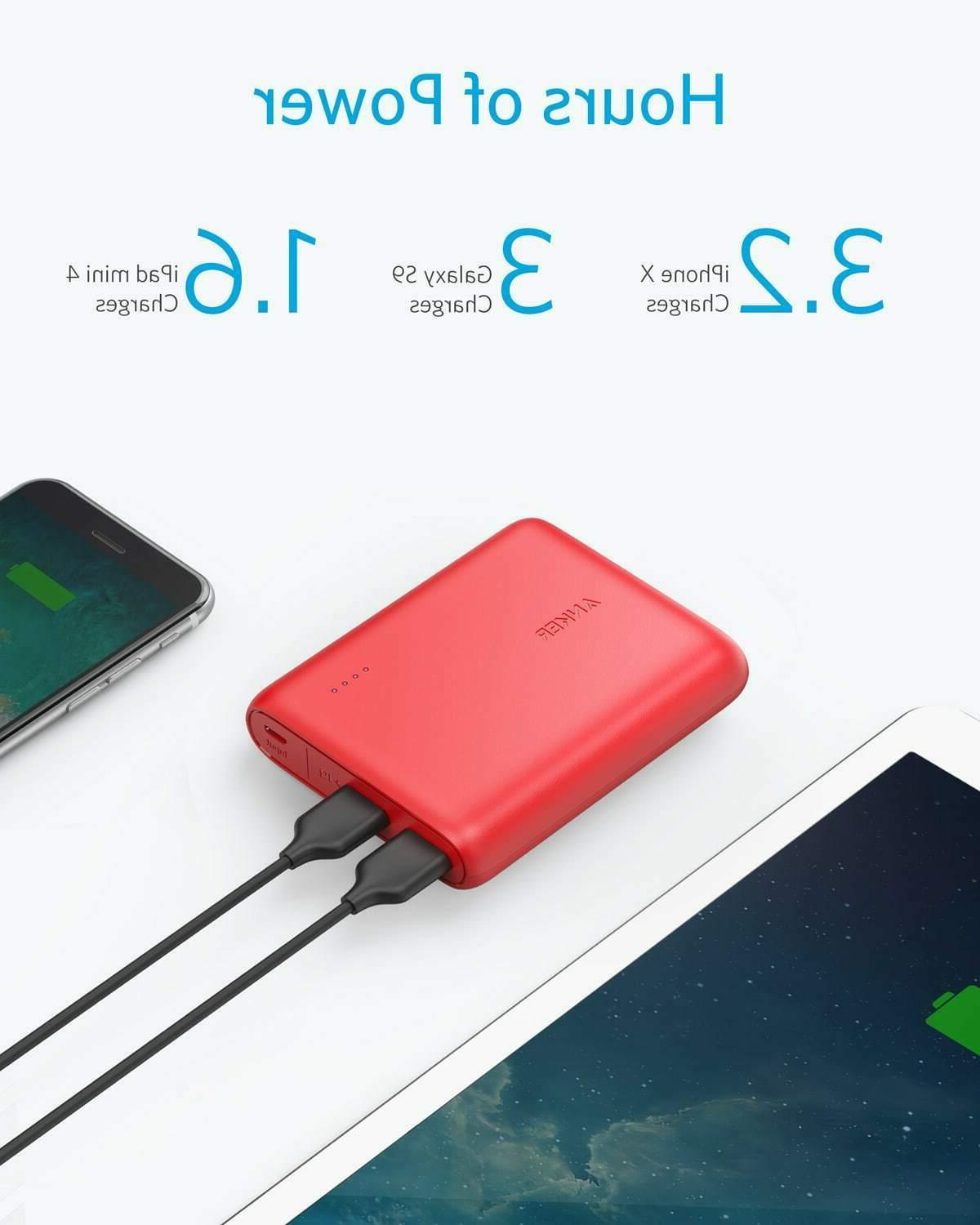 Anker Portable Charger 13000mAh 2-Port iPhone 11 Red
