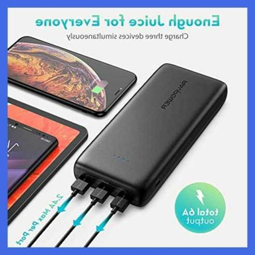 Portable 32000 Battery Pack 6A Output USB Banks For Black