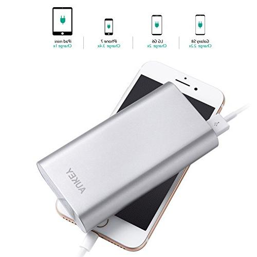 AUKEY 10050mAh with Charge 3.0 10 Silver
