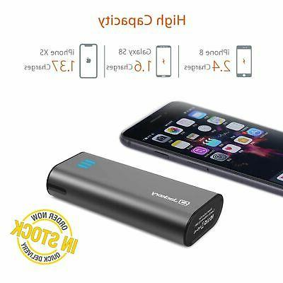 Portable Charger External Battery Fast Charger Bank Black