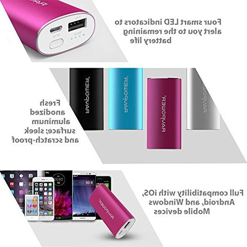 Portable Charger External Bank Battery for Xs, Plus, Note 8 - Pink