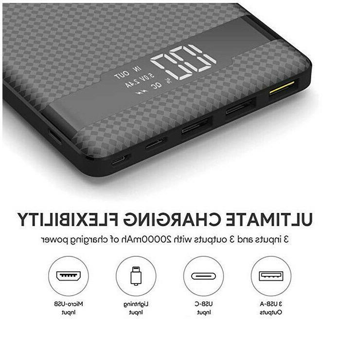 Portable Charger Power Bank Hokonui External Pack Quick Charge